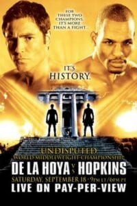 De La Hoya- Hopkins poster