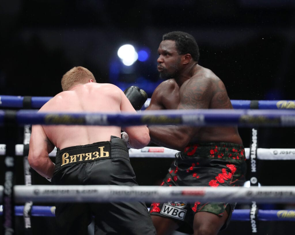 Whyte's WBC title hopes thwarted by Povetkin hammer blow
