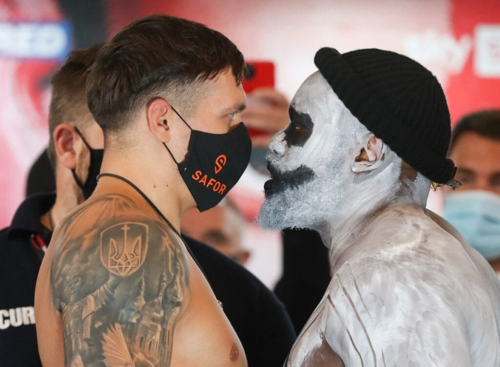 Chisora Engaged Usyk In Classic Halloween Stare Down Friday
