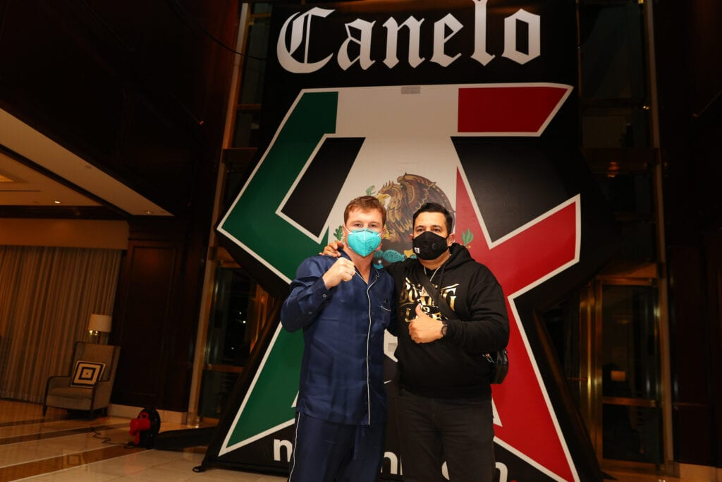 Canelo Arrived In Miami Sunday Night