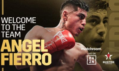 Angel Fierro SIgns With Matchroom