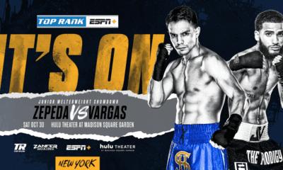 Jose Zepeda To Headline MSG Against Josue Vargas